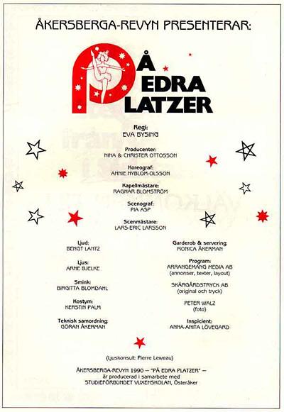 På Edra Platzer 1990