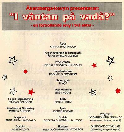 I Väntan På Vadå? 1991