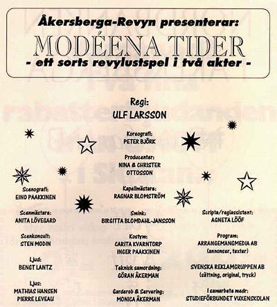 Modéena Tider 1992