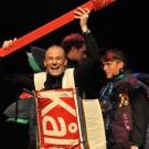 Svante Ottosson i föreställningens skönaste kostym.