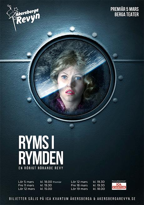 Affisch till föreställningen Ryms i rymden